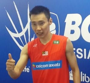 lee chong wei giving thumbs up