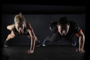 fitness training plank