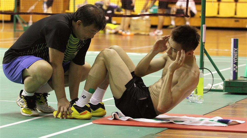 lee chong wei ab exercise