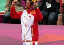 lin dan celebrate london