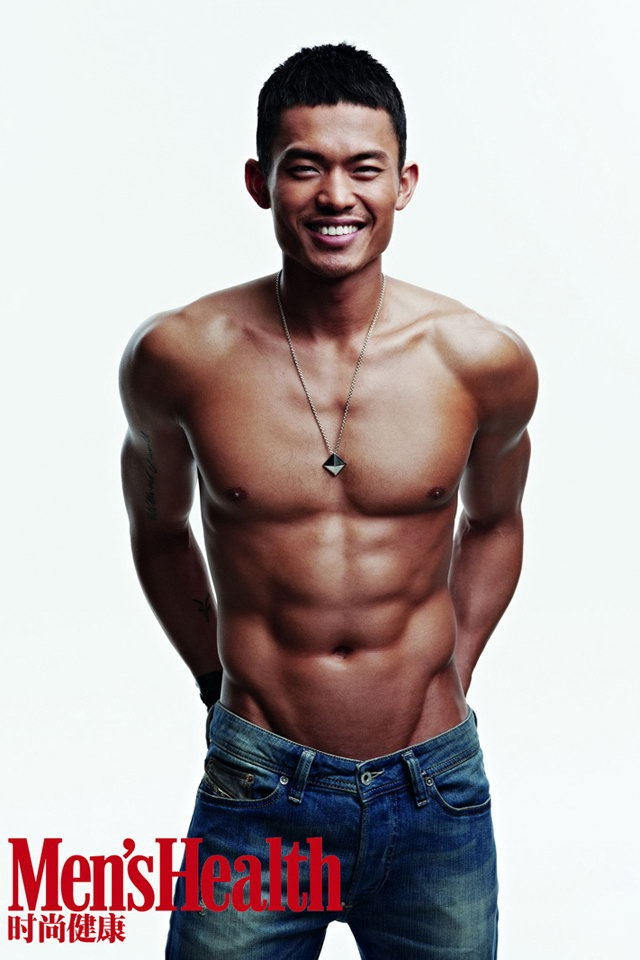 lin dan shirtless