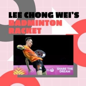 lee chong wei's badminton racket
